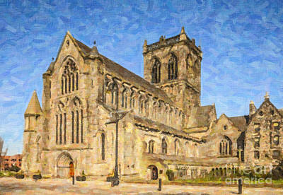Digital Art - Paisley Abbey by Liz Leyden