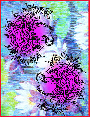 Digital Art - Paisley Design Collage by Christine Perry