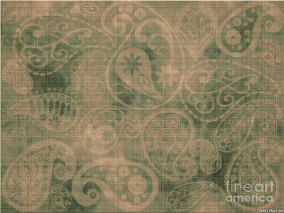 Digital Art - Paisly Fabric Print by Debbie Portwood