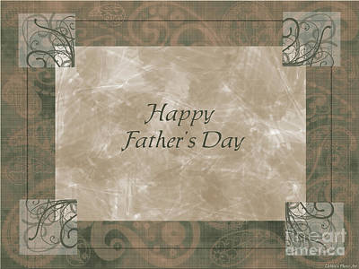 Digital Art - Paisly Greeting Card Fathers Day by Debbie Portwood