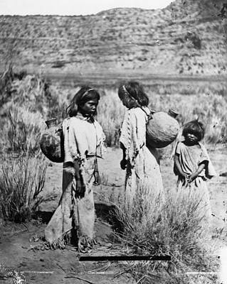 Water Jug Photograph - Paiute Water Carriers by Granger