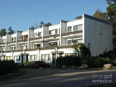 Painting - Paivola Building In Sunila by Ilkka Porkka
