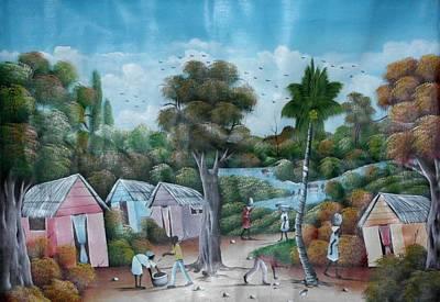 Haitian Painting - Paix En Paysage by Nelieu