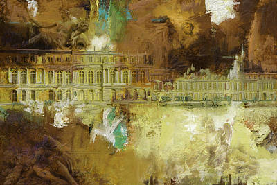 Chartre Painting - Palace And Park Of Versailles by Catf