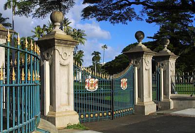 Er Photograph - Palace Gates by Linda Phelps