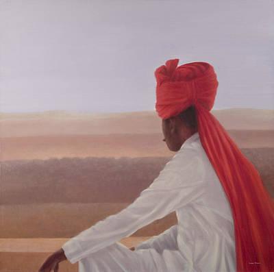 Palace Guard, Jaipur Art Print