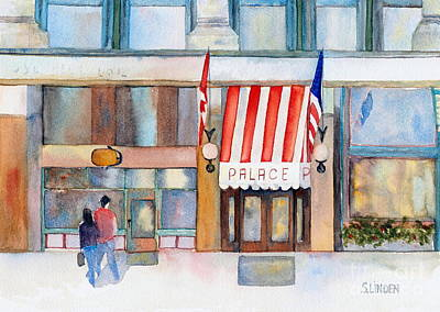 Palace Hotel Art Print by Sandy Linden