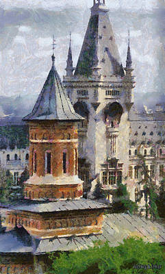 Romania Painting - Palace Of Culture by Jeff Kolker