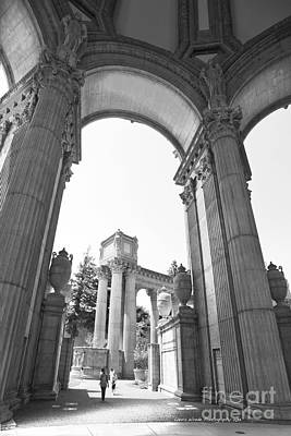 Photograph - Palace Of Fine Arts In Black And White by Artist and Photographer Laura Wrede
