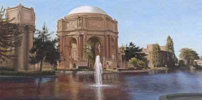 Wall Art - Painting - Palace Of Fine Arts Lagoon View by Terry Guyer