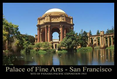 Photograph - San Francisco Poster - Palace Of Fine Arts by Art America Gallery Peter Potter
