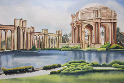 Painting - Palace Of Fine Arts by Teresa Beyer