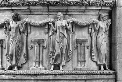 Photograph - Palace Of Fine Arts Theater Column by David Beebe