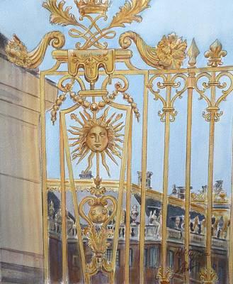 Palace Of Versailles Art Print by Henrieta Maneva