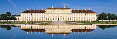 Palace Reflecting In Water, New Palace Art Print
