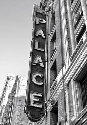 Palace Theater - Los Angeles - Black And White Art Print by Gregory Dyer