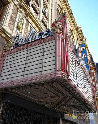 Photograph - Palace Theater Marquee by Gregory Dyer