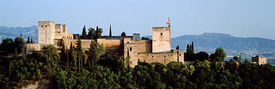 Alhambra Photograph - Palace Viewed From Albayzin, Alhambra by Panoramic Images