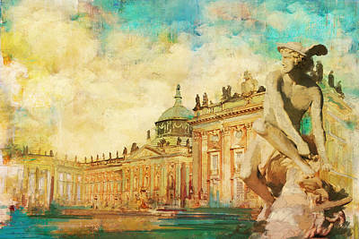 Palaces And Parks Of Potsdam And Berlin Art Print by Catf