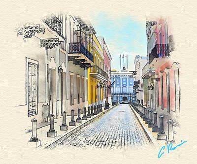 Painting - Palacio Santa Catalina by Charlie Roman
