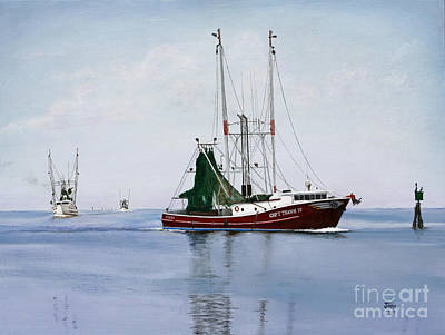 Art Print featuring the painting Palacios Boats by Jimmie Bartlett
