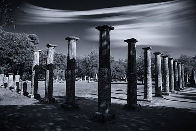 Print featuring the photograph Palaestra At Olympia by Micah Goff