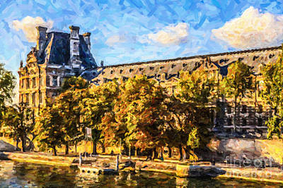 Digital Art - Palais Du Louvre by Liz Leyden