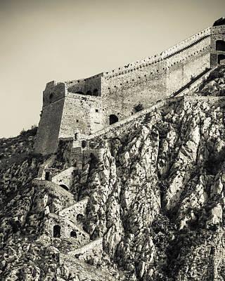 Palamidi Fortress Stairs Art Print by David Waldo