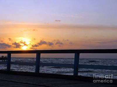 Photograph - Palanga Sea Bridge At Sunset. Lithuania by Ausra Huntington nee Paulauskaite