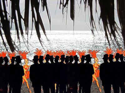 Palapas Wall Art - Photograph - Palapa Beach Party by Natasha Marco