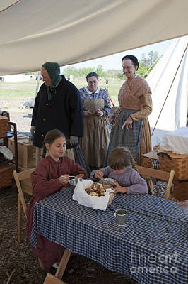 Photograph - Palas Athena Ladies Aid Society 150 Civil War Reenactment Of The Wilderness  by Jonathan E Whichard