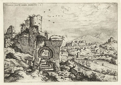 Palatine At The Baths Of Caracalla, Print Maker Hieronymus Art Print by Artokoloro