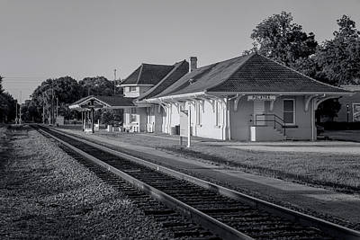 Palatka Train Station Art Print by Lynn Palmer