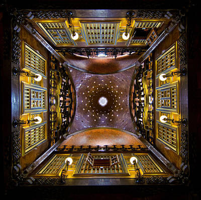 Photograph - Palau Guell Ceiling by Jack Daulton