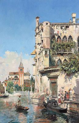 Palazzo Contarini Art Print by Jose Gallegos Arnosa