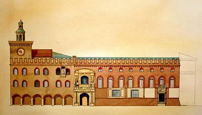 Palazzo D'accursio Bologna Italy Art Print
