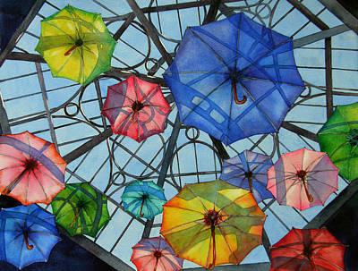 Painting - Palazzo Parasols by Judy Mercer