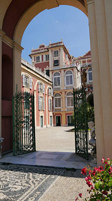 Photograph - Palazzo Reale Open Gate by Herb Paynter