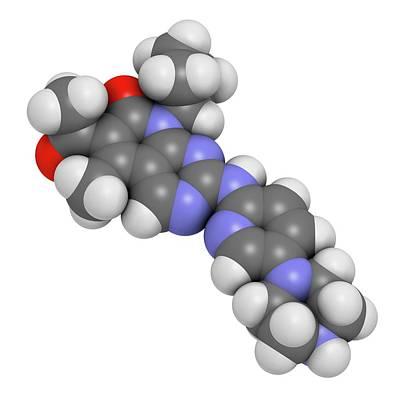 Palbociclib Breast Cancer Drug Molecule Art Print by Molekuul