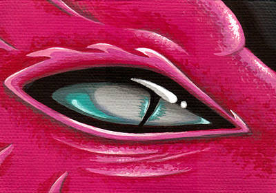 Dragon Painting - Pale Eye Of Tourmaline by Elaina  Wagner