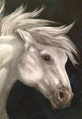 Painting - Pale Grey Horse by K Simmons Luna