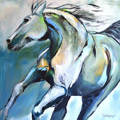 Pale Horse Art Print by Cher Devereaux