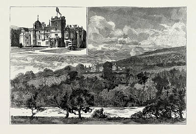 North Wales Drawing - Pale Mansion, North Wales, Where Her Majesty Will Reside by Litz Collection