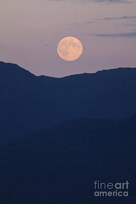 Photograph - Pale Mountain Moon by Alycia Christine