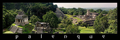 Photograph - Palenque From The Jungle Panorama by Weston Westmoreland