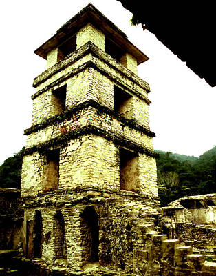 Photograph - Palenque - Palace Tower by Robert  Rodvik