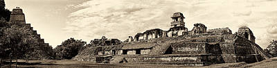 Photograph - Palenque Panorama Sepia by Weston Westmoreland