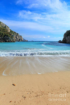 Photograph - Paleokastritsa Beach Vertical by Paul Cowan