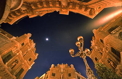 Palermo - Quattro Canti At Night Art Print