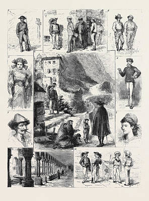 Palermo 1. A Gendarme 2. Excellenza, This Village Art Print by English School